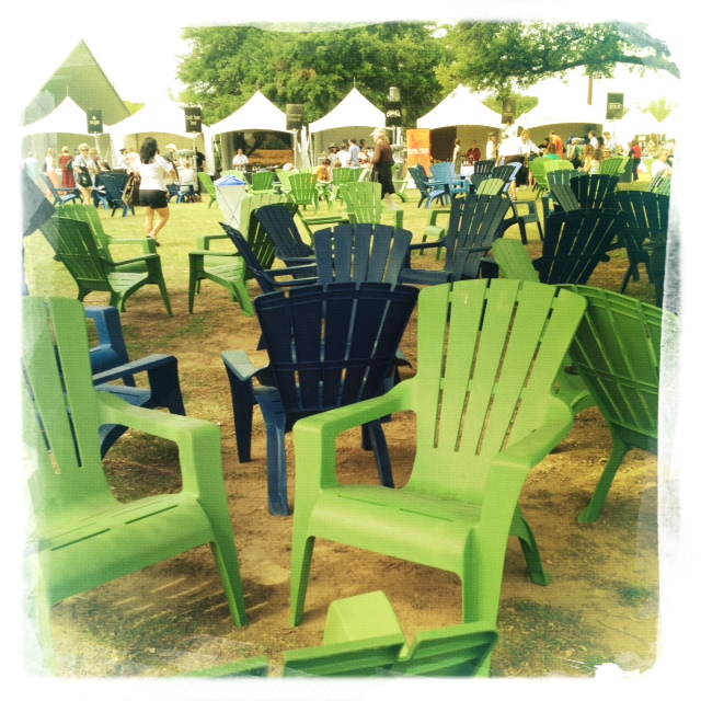 Austin Food and Wine Festival those chairs