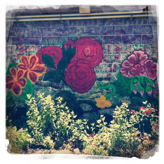Joe's Place and Connie's Beer Garden back flower wall