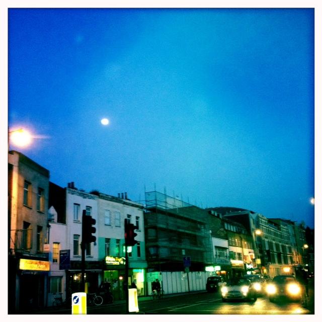 Hackney Shoreditch moon over vietnamese restaurant