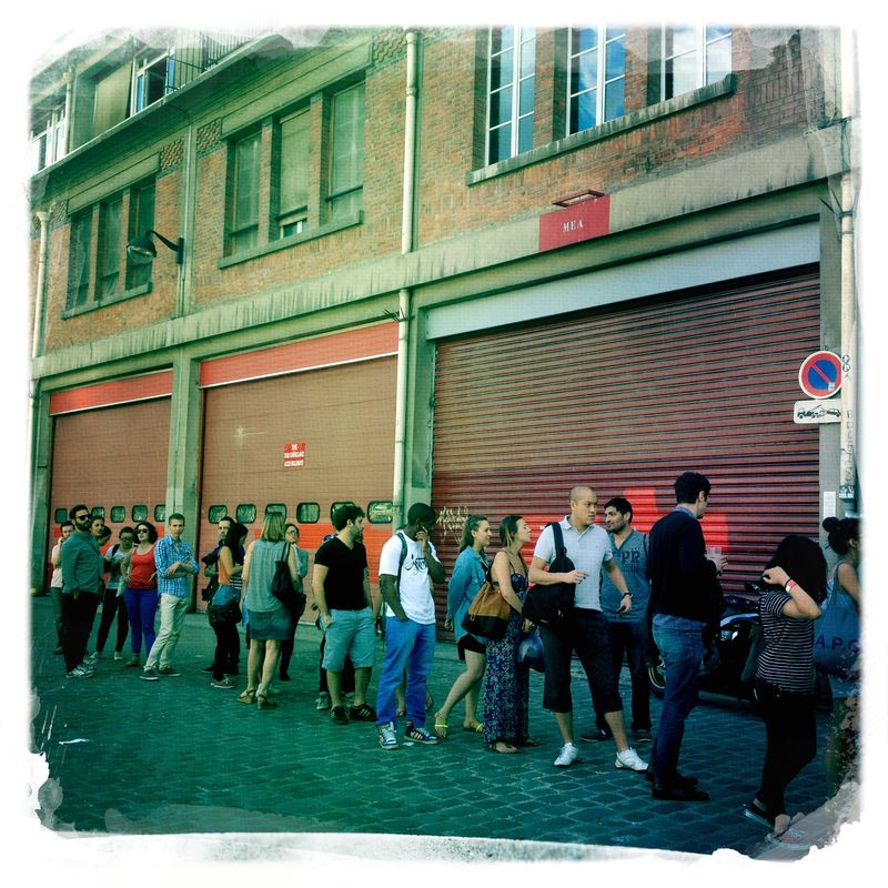 The line for Le Camion qui Fume