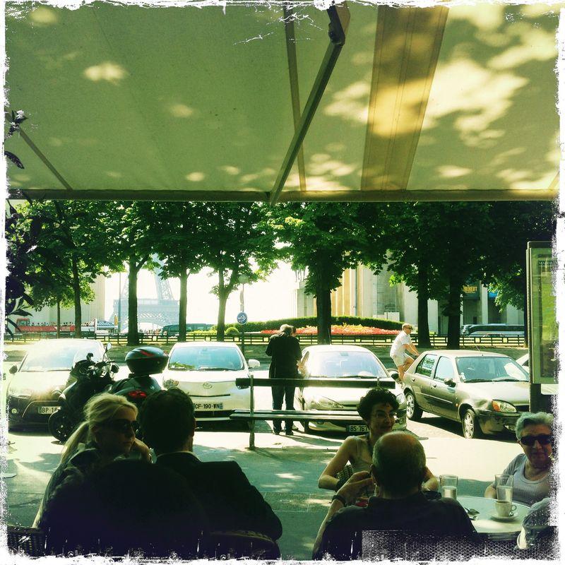 My first velib ride breakfast at trocadero