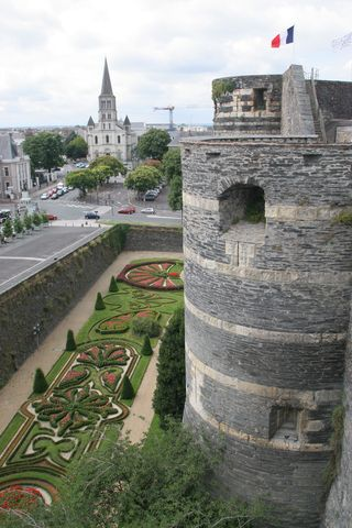 Chateau d'Angers gardens and tower