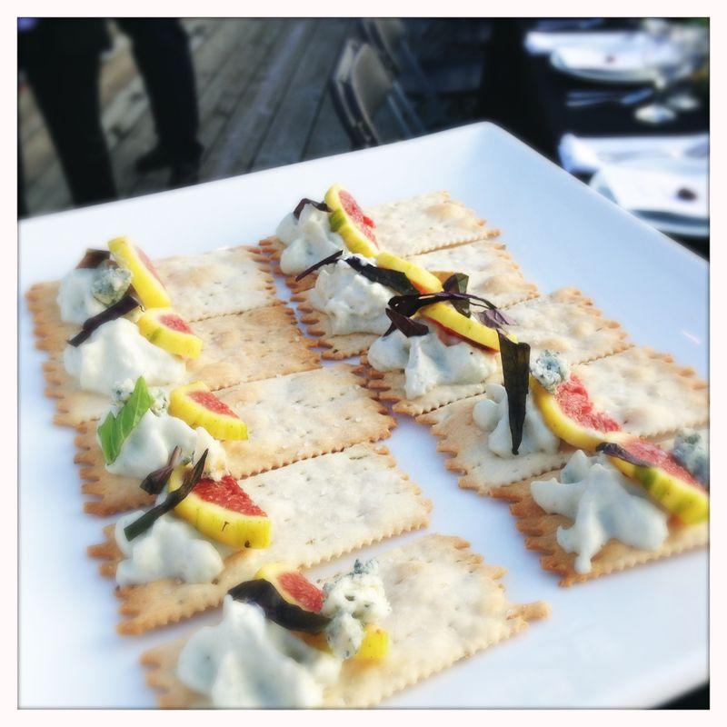 Fig appetizers say la V moore's crossing bridge dinner
