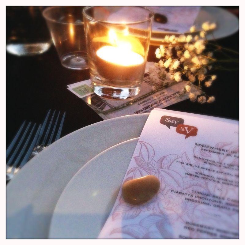 Tea Lights Moore's Crossing Bridge Dinner Say la V catering
