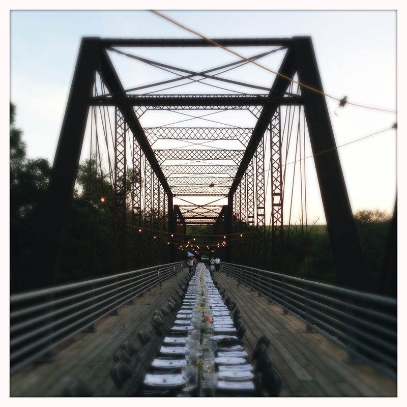 Moore's Crossing Bridge architecture Somewhere in Time Dinner
