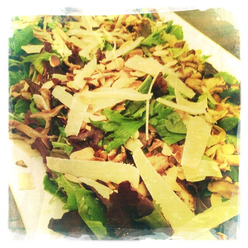 Green Goddess Salad with Parmesan Shavings