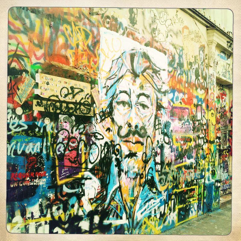 Serge Gainsbourg Wall rue de Verneuil Paris